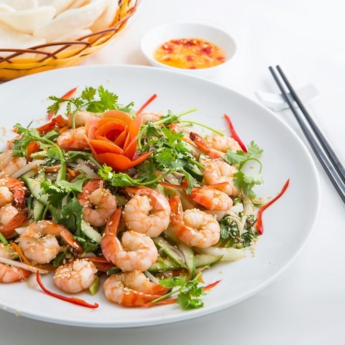 Gỏi tôm kiểu Thái