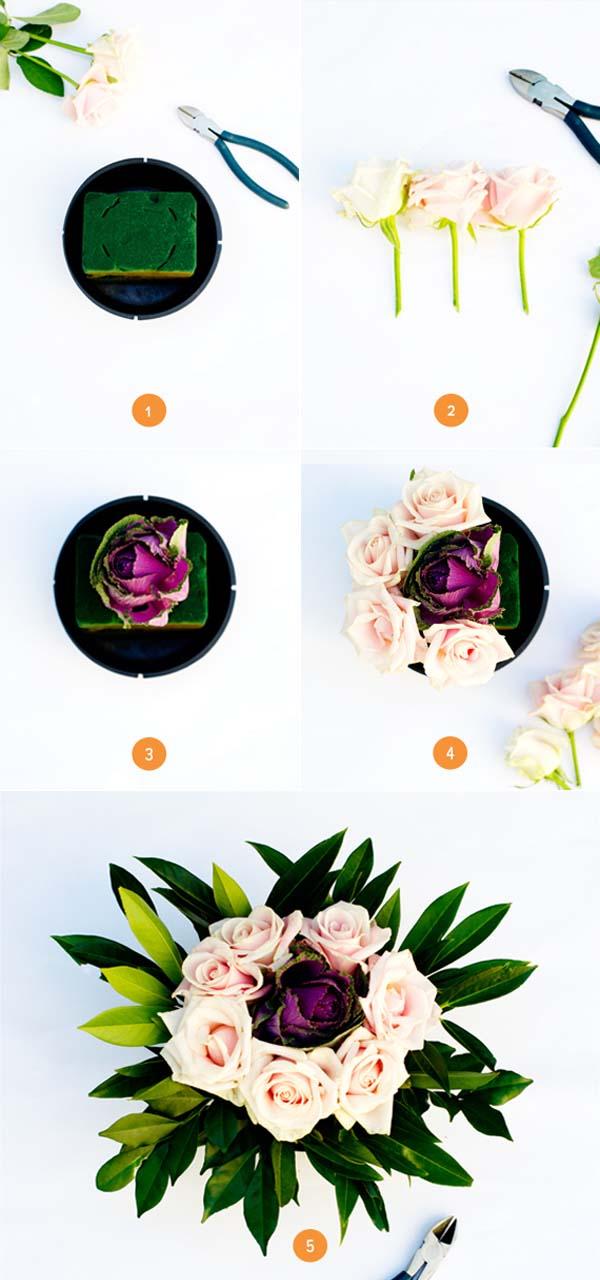 Hoa trang trí bàn tròn